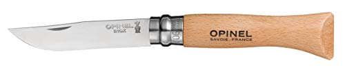 Opinel No.06 Stainless Steel Folding Knife with Beechwood Handle