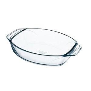 Fuente para horno Pyrex cristal Oval Tamaño: 210 x 300 (W) (D) mm. Material: cristal