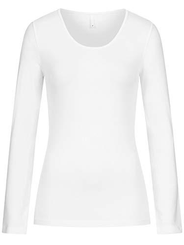 ONLY Damen Longsleeve Onllive Love Life Basic Damen-Shirt 15204712 White M