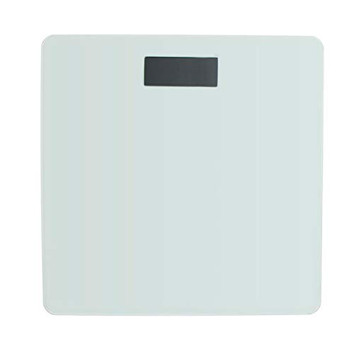 Deco Line Báscula Digital para baño de 28 cm, Cristal Blanco