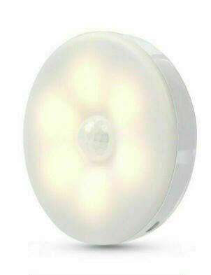 Lampada 8 led con sensore movimento per cameretta, armadio, scale magnetica usb a induzione senza fili 6000k