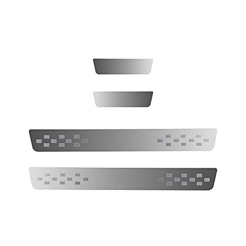 4 listones de umbral para puerta de coche, compatibles con C3 C4 C5 2017 – 2019, protección antiarañazos, adhesivo para pedal de coche, accesorios, acero inoxidable