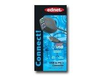 ednet USB to PS/2 Konverter Fuer Tastatur/Maus