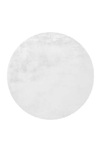 Arte Espina Teppich Rabbit 100 Weiß Ø 160cm RUND
