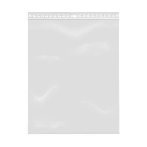 100 x Zip-Verschlussbeutel, transparent, lebensmittelecht, Kunststoff, 15 x 20 cm