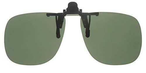 Fitsch Online UG Polarisierender Sonnenbrillenaufsatz grün Sonnenbrillen-Clip Sehbrillen-Aufsatz
