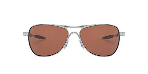 Oakley Men's OO4060 Crosshair Metal Polarized Aviator Sunglasses, Matte Black/Black Iridium, 61 mm