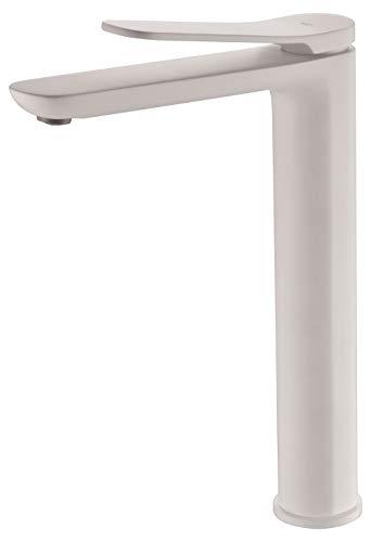 Grifo lavabo monomando caño alto color Blanco Imex Dinamarca BDR031-3BL