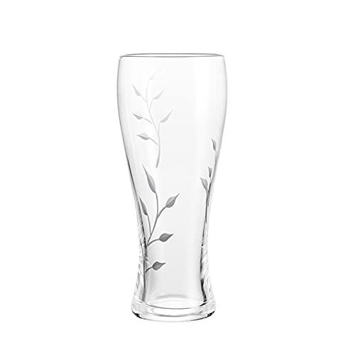 DONGTAISHANGCHENG Jarras de Cerveza Cerveza de Cristal Clear Fácil apilamiento en el Armario más Grande para Beber con Amigos y Seres Queridos Congelador Cerveza Compatible Tazas 18 oz