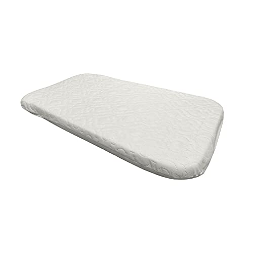 Brillars® Baby Bedside Deluxe Crib Mattress Fit to Next to me Infant Plush Sleeping Surface - Fitted Ultra Soft Comfort Foam with Luxury Removable White Quilted Cover (83 x 50 x 5cm)