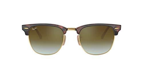 Ray-Ban Clubmaster 990/9J Gafas de sol, Shiny Red/Havana, 51 para Hombre