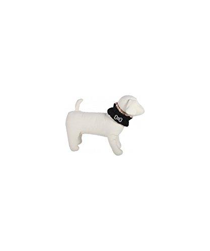 Cálido perro bufanda contra de cuello y almendra ENT züngung–Tamaño: M–Pañuelo para Perros Negro