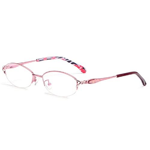 ZQKJLH Occhiali Occhiali da Lettura Intelligenti con Regolazione Automatica per Occhiali a Doppia Luce con Zoom progressivo alla Moda Che Sono lontani e vicini Insieme (Color : Pink, Size : +2.75)