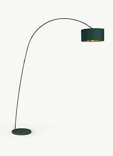 Modernluci Lámpara de pie de estilo escandinavo con pantalla de tela, diámetro de 40 cm, altura: 205 cm +-10 cm