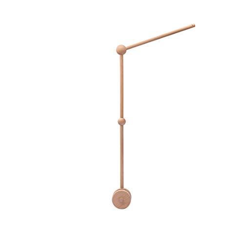 Promise Babe Mobile en bois pour bébé avec boules de feutre Cloche suspendue pour chambre d enfants Carillons éoliens mobiles Bunny pour lit de bébé (Support)
