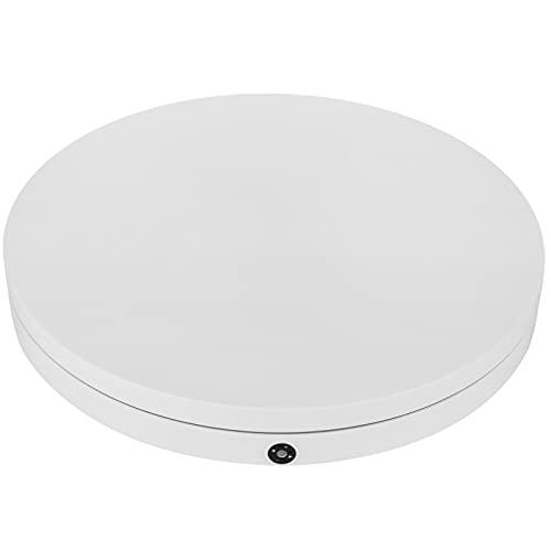 PrimeMatik - Base girevole elettrica 60 cm bianco con telecomando