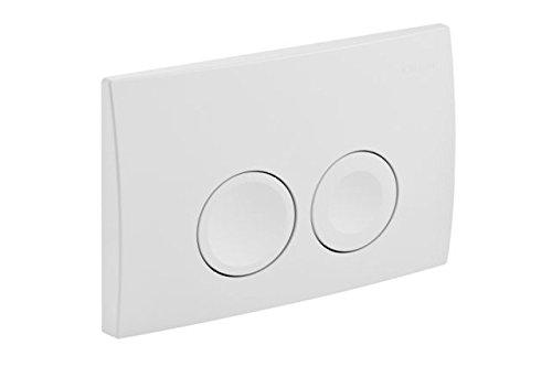 Geberit Betätigungsplatte Delta21 für WC-Spülkasten mit Betätigung von vorne, Drückerplatte für 2-Mengen-Spülung, weiß, Art.Nr. 115125111