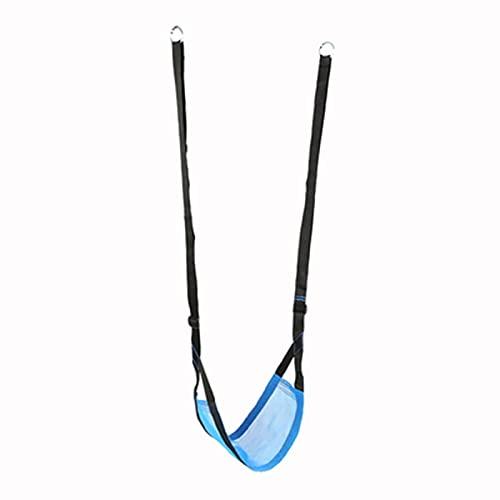 Columpio Hogar al Aire Libre Durable Oxford Paño Swing, Silla Colgante de jardín para niños portátil y Ajustable, 54x29cm (Color : Blue)