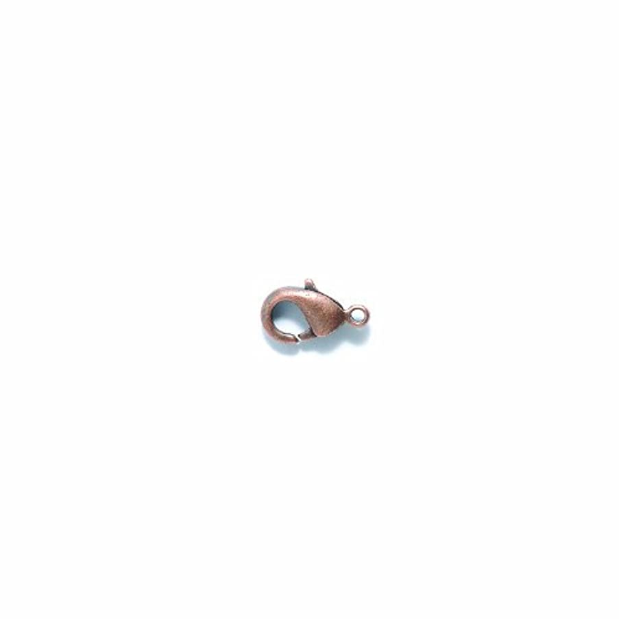 Shipwreck Beads Lead Free Zinc Alloy Lobster Clasp, Antique Copper, 6 by 12 mm, 40-Pack