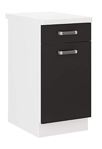 Küchen Unterschrank 40 cm für das Modell,Omega 240 Schwarz + Weiss'