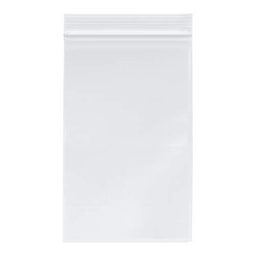 "Plymor 5"" x 8"", 4 Mil (Pack of 200) Heavy Duty Plastic Reclosable Zipper Bags"