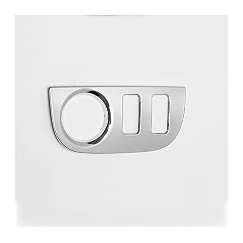 ZHANGXL XELIAN Control de Interruptor de Espejo Lateral Control de Cubierta Decorativa Ajuste para Renault Dacia Logan 2 SANDERO 2 (Color Name : Cover with 3 Holes)
