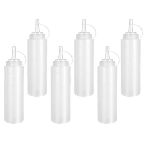 YARNOW 6 Uds. Botella de Exprimidor de Condimento Botella de Goteo de Salsa para Cocina Botella de Plástico para Aderezo de Ensalada Contenedor de Alimentos Dispensador de Aceite Salsa