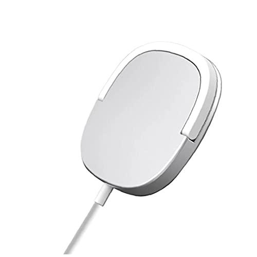 Cargador inalámbrico 15W anillo magnético soporte cargador de plata de carga rápida compatible con iPhone 12 duradero