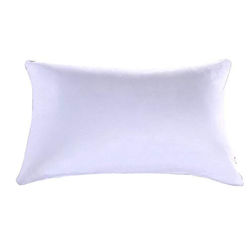 100% Cotton Pillow Queen Size 20x30 500 thread count , Hotel Goose Down Alternative Pillow with , Super Soft Ultra Plush, Adjustable Loft, Side Sleeper