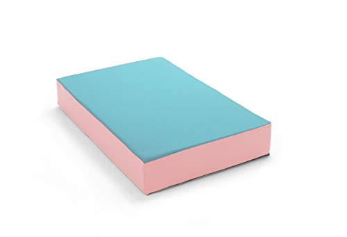 traturio Colchón hinchable en bonitos colores para todos los saltadores pequeños, 107 x 70 x 17 cm (turquesa/rosa, 107)