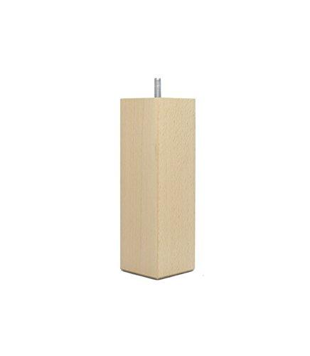 La Fabrique de pieds bedpoten, hout, licht gelakt, 17,5 x 5,5 x 5,5 cm, 4 stuks