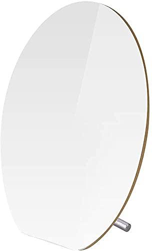 Qjkmgd Espejo, baño, Montaje en Pared, tocador, D H Maquillaje Espejo elipsedesktopbeauty Espejo portátil de Moda portátil Simple Simple