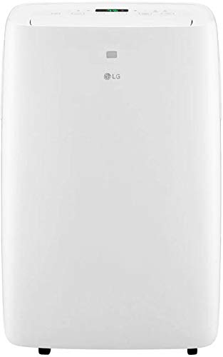 """LG LP0820WSR 18"""" Portable Air Conditioner with 8000 BTU Cooling Capacity, 2 Fan Speeds, Remote, 24 Hour Timer and Auto Restart in White"""