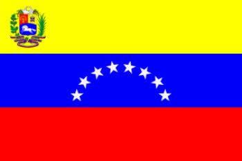 Flagge Venezuela (8 Sterne) mit Wappen 90 x 150 cm Fahne