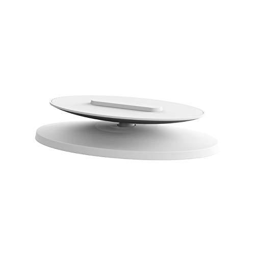 cottonlilac Soporte de plástico Ajustable de 360 Grados Soporte Giratorio Estable Soporte de Altavoz Abs Marco de Base Antideslizante-Blanco