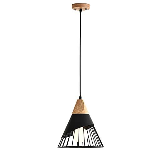 Lámpara Colgante Moderna Negro Iluminación Colgante Altura Ajustable Iluminaciin Colgante De Techo Pantalla De Hierro Luces Colgantes para Isla De Cocina E27*1 (D: 30*H: 34cm)
