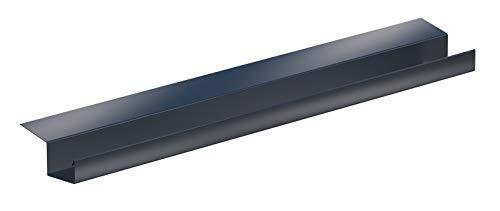 Kastendachrinne Simpel 2 Meter Aluminium anthrazit incl. Montagematerial