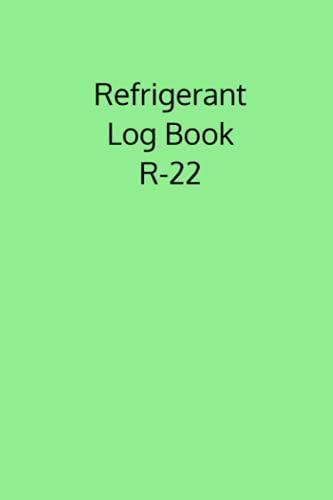 Refrigerant Log Book R-22