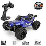FUNTECH RC Car 1/18 Scale Remote Control Car Off Road 4WD Monster RC Truck, Fast 30+ MPH Remote Control Cars RTR 2.4Ghz Radio, All Terrain RC Cars for Beginners