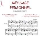 Partition : Message personnel - Piano et paroles