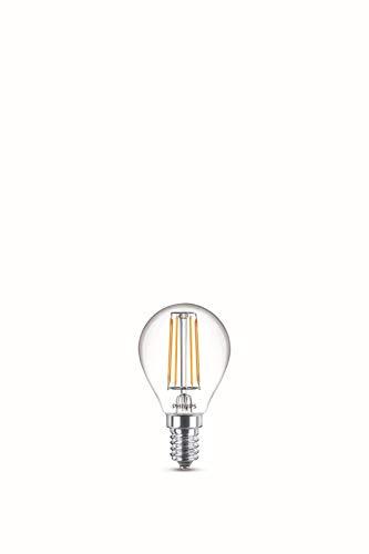 Philips Lampadina LED Goccia Filamento, Equivalente a 40W, Attacco E14, Luce Bianca Fredda, non Dimmerabile, Pack Doppio