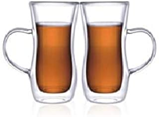 Neoflam Borosilicate Double Wall Glass Mug Set Of, Coffee Mugs, Latte Mug, Clear Mugs 100 Ml