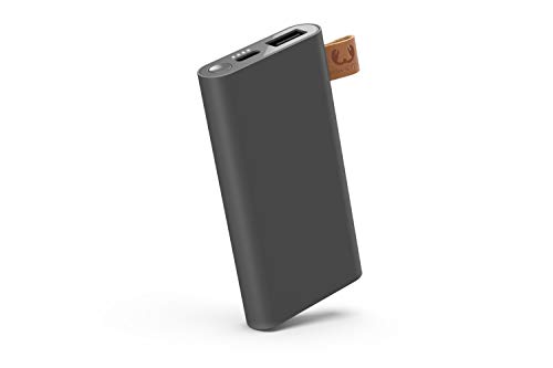 Fresh \'n Rebel Powerbank 3000 mAh USB-C | Tragbares Ladegerät/Externer Akku - 2-ports USB-C & USB für iPhone, iPad,Huawei,Samsung, Nexus, HTC und mehr – Storm Grey
