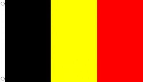 5 ft x 3 ft 150 x 90 cm-DRAPEAU BELGE Belgique 100% Polyester-matière Drapeau Banniere idéale pour Festival bar Club l'activité Décoration de Fête