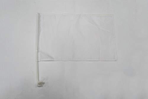 AZ FLAG AUTOFAHNE EINFARBIG Weiss 45x30cm - EINFARBIG AUTOFLAGGE 30 x 45 cm Auto flaggen