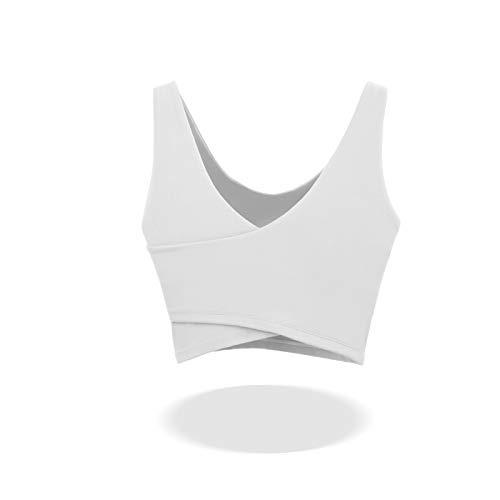 Cwang Sujetador con Aros sin Relleno para Mujer,Blanco,XL