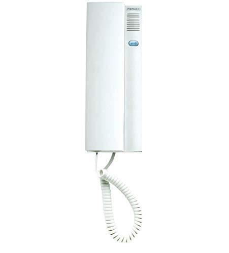 Fermax CITYMAX 8039-7 blanco (sustituye al 8039, nueva versión 2018), teléfono de la puerta universal, sistema de cableado de 5 hilos, montaje sobre-yeso