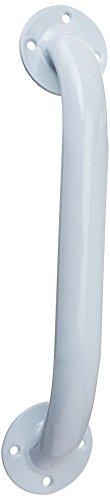 Carex Health Brands Bathroom Wall Grab Bar, White, 12 Inch