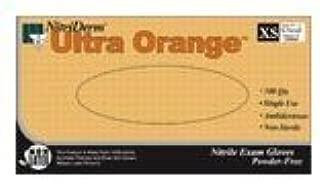 NitriDerm Ultra Orange Powder Free Nitrile Synthetic Glove Medium 100/bx, 10 Boxes Per Case (10)