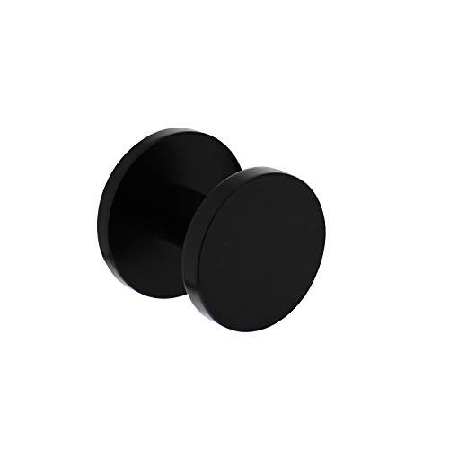 Intersteel Voordeurknop Diameter 55mm - Achterplaat Diameter 60mm, Eenzijdige Montage, Aluminium, Zwart
